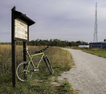 Hamburg Trail historical marker.
