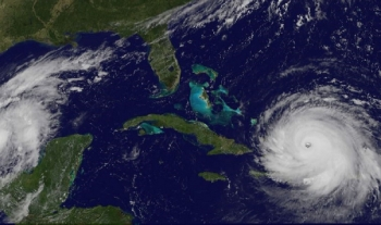 photo of hurricane irma