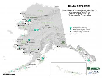 Map of RACEE Alaskan communities