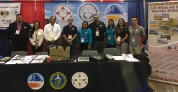 LM federal and contractor staff at the 2017 AISES conference and career fair.
