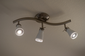 LED overhead lights in a house.