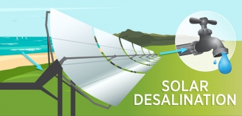 solar desalination graphic
