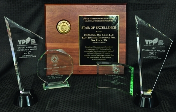Oak Ridge Office of Environmental Management contractor URS|CH2M Oak Ridge received several safety-related awards this year.
