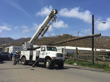 Stepping through the repair process to restore power