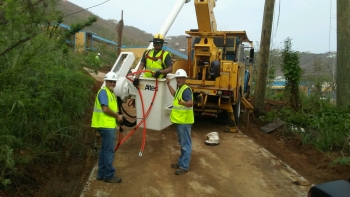 WAPA team working together to restore power on St. Thomas