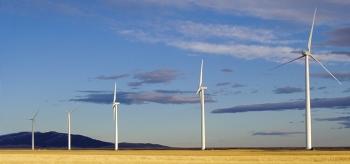 Wind turbines in Montana.