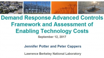Demand Response Advanced Controls Framework and Assessment of Enabling Technology Costs - Presentation