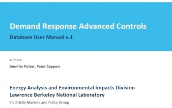 Demand Response Advanced Controls Database User Manual v.1