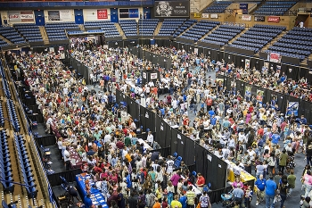 Representatives from more than 130 colleges and universities participate in the Central Savannah River Area College Night.
