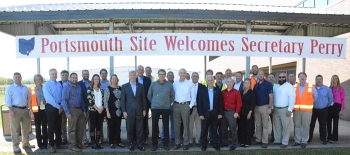 Energy Secretary Rick Perry recently toured EM's Portsmouth Gaseous Diffusion Plant Site