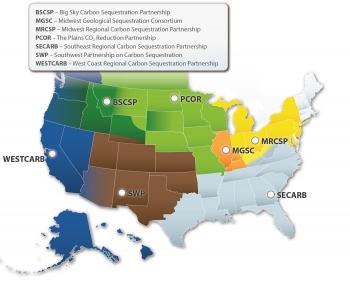 Regional Carbon Sequestration Partnerships Regions Map
