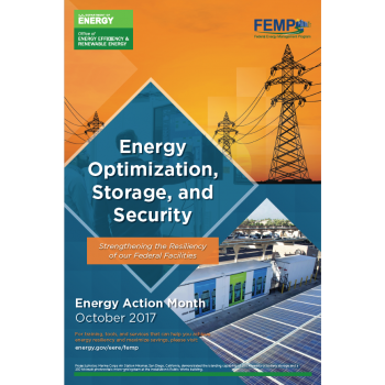 Screenshot of the Energy Action Month poster.