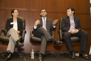 Panelists at October 2017 cyber event at NRECA