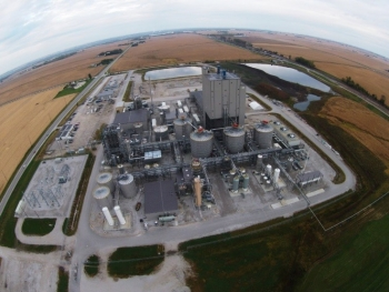 An aerial view of DuPont's cellulosic ethanol facility in Nevada, Iowa.