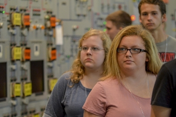 Marshall County High School students tour the Paducah Gaseous Diffusion Plant's C-300 Control Room as part of their Annual Site Environmental Report summary project orientation.