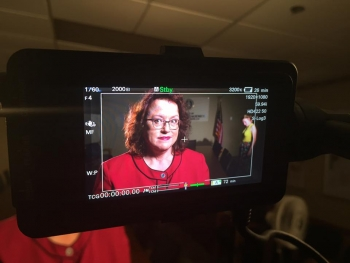 "Dr. April Gil, manager of the LM office in Grand Junction, was interviewed for ""Uranium Mania."""