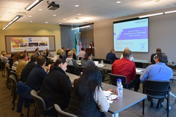 Thirty business representatives gathered for the region's first Meet the Buyer program of 2017.