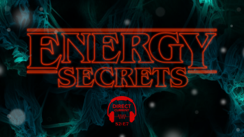 Promo image for Direct Current podcast on Energy Secrets and Stranger Things