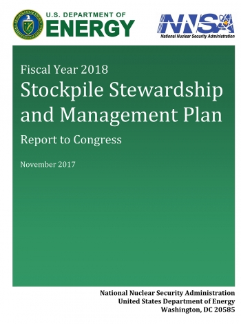 Cover of the FY2017 Stockpile Stewardship Management Plan