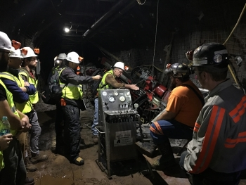 Researching inside the mine