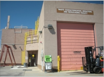 Treatment of the RNS drums took place inside the Waste Characterization, Repackaging and Reduction Facility (WCRRF).