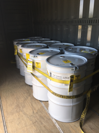 The treated drums were transported to Area G for storage until they are certified and shipped to WIPP for disposal.