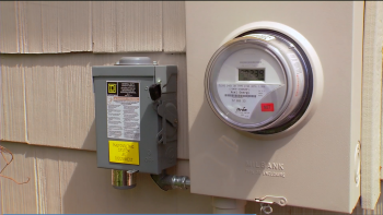 solar home inverter and shutoff meter