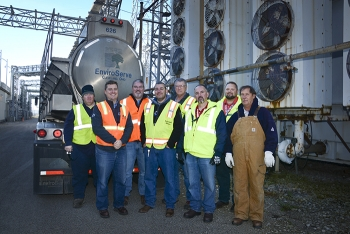 Personnel from the Southern Ohio Diversification Initiative, Fluor-BWXT, Southern Ohio Asset Recovery, and EnviroServe completed the transformer oil project in November.