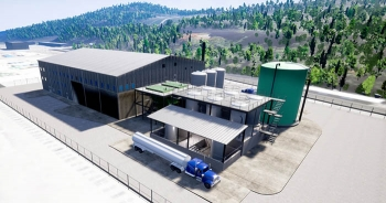 A rendering of the Mercury Treatment Facility.