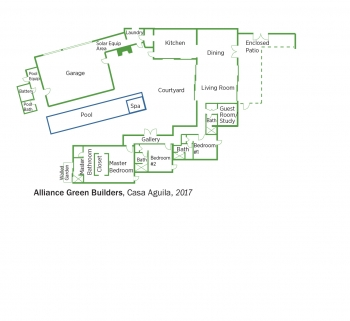 Floorplans for Casa Aguila by Alliance Green Builders.