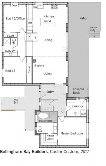 Floorplans for Custer Custom by Bellingham Bay Builders.