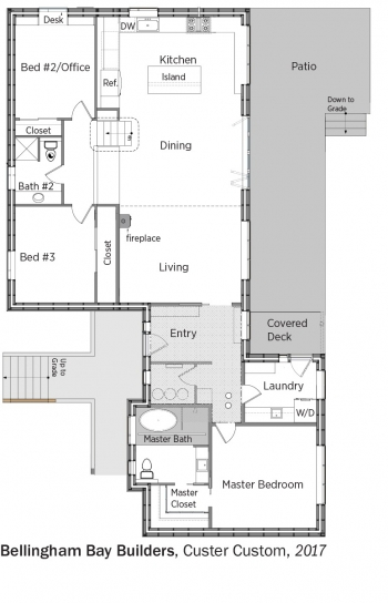 Floorplans for Custer Custom by Bellingham Bay Builders.