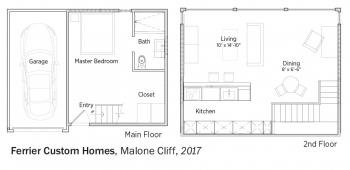 Floorplans for Malone Cliff by Ferrier Custom Homes.