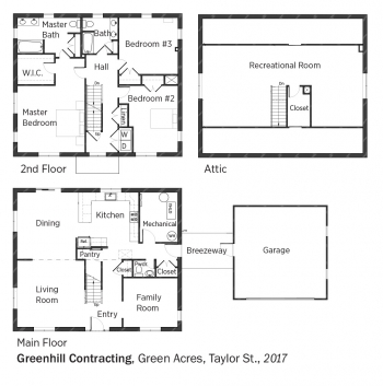 Floorplans for Green Acres, Taylor St. by Greenhill Contracting.