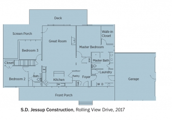 Floorplans for Rolling View Drive by S.D. Jessup Construction Inc.