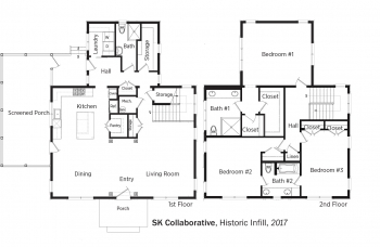 Floorplans for Historic Infill by SK Collaborative.