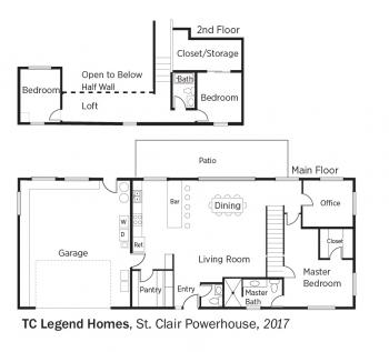 Floorplans for St. Clair Powerhouse by TC Legend Homes.