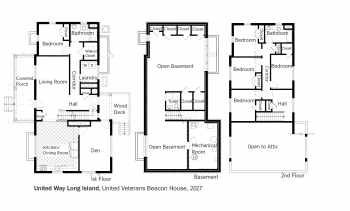 Floorplans for Depot Road Beacon House by United Way of Long Island.