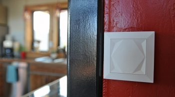 Photo of a touch switch for a lighting control system.