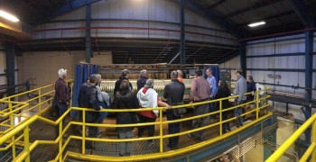 AUMWG members touring the Argo Tunnel wastewater treatment plant.