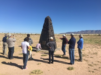 DOE and NPS staff visited the Trinity site, where Manhattan Project personnel detonated the world's first nuclear device.
