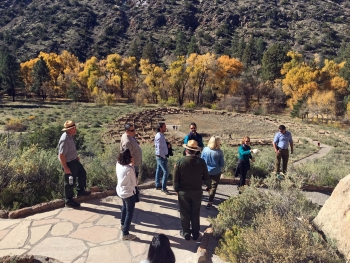 DOE staff learned about the history of Ancestral Pueblo people and the Manhattan Project in Bandelier National Monument.