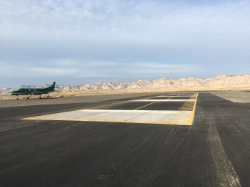 Concrete slabs at the 40-year-old Grand Junction Regional Airport calibration facility were repaired and repaved.