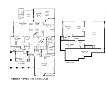 DOE Tour of Zero: The Emery by Addison Homes floorplans.