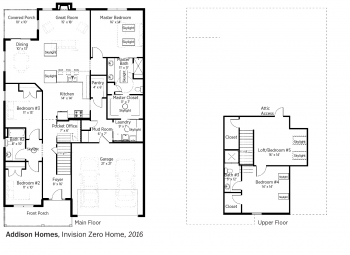 DOE Tour of Zero: Invision Zero Home by Addison Homes floorplans.