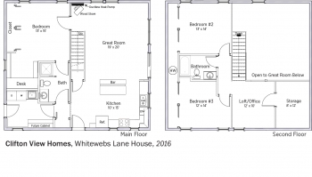 DOE Tour of Zero: Whitewebs Lane House by Clifton View Homes floorplans.