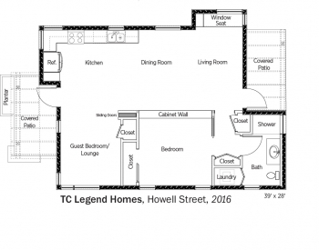 DOE Tour of Zero: Howell Street by TC Legend Homes floorplans.