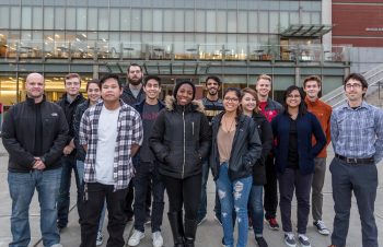 The Seattle University Collegiate Wind Competition 2018 team.