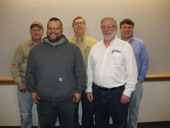 Members of the DMWW Energy Team keep their colleagues updated on progress toward energy goals. (Photo: DMWW)