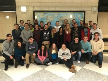 James Madison University Collegiate Wind Competition team members.